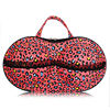 Travel bra bag underwear case bra organizer with net inside for panties pink floral