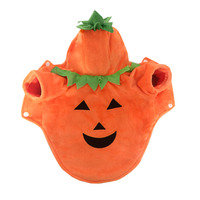 New Style Fleece Warm Halloween Pumpkin Dog Clothes Costumes