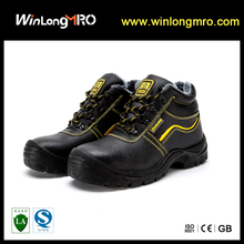 WL-A020 High quality split embossed cow leather dual-density PU worker Safety shoes with steel toe