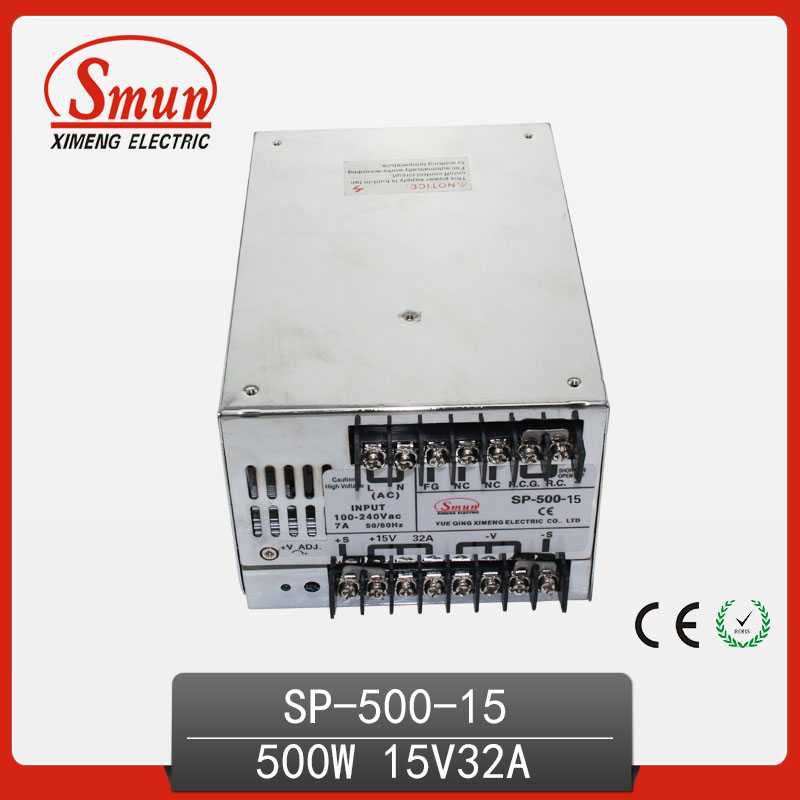 500W Switch Power Supply With Power-Factor Correction 15V 32A