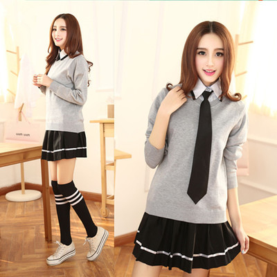 japanese girl high school uniform designs with sweater