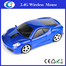 USB 2.4GHz Wireless Optical Mouse gift Car Shape Mice For PC MAC BLUE