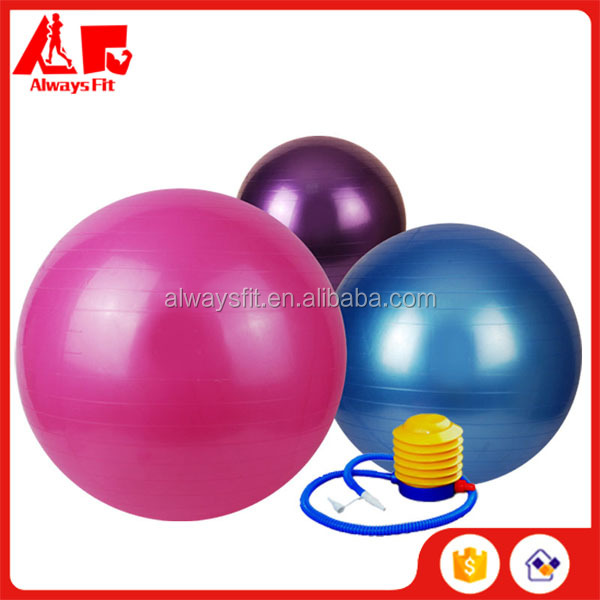 New PVC Anti-burst Fitness Gym Ball /Yoga Ball/Exercise ball With Pump