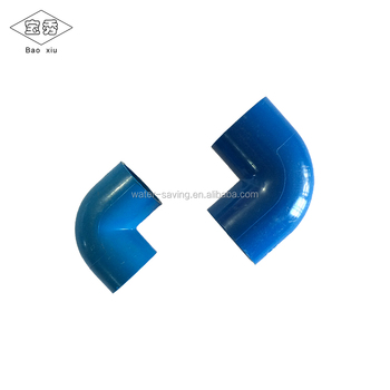 Wholwsale 20mm blue PVC 90-degree elbow pipe fitting