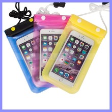 Waterproof Soft PVC Phone case,underwater photograph diving Pouch Dry bag For Apple iPhone 4 4s 5 5s 6 Plus For Samsung
