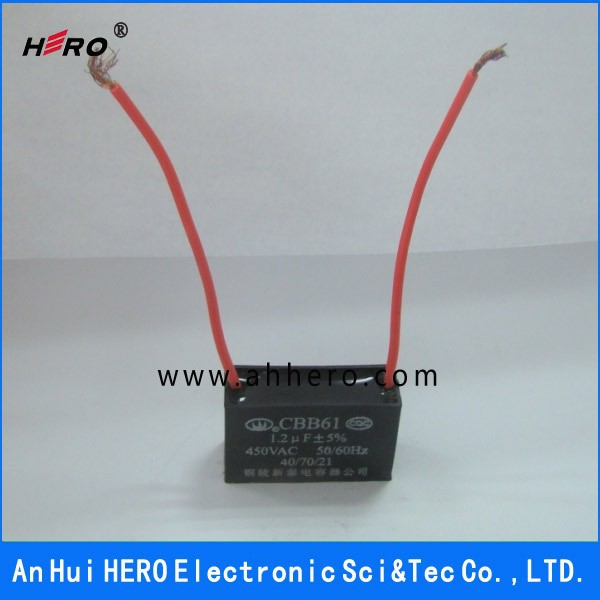 List Manufacturers of Fan Capacitor Cbb61 2 Wire, Buy Fan Capacitor ...