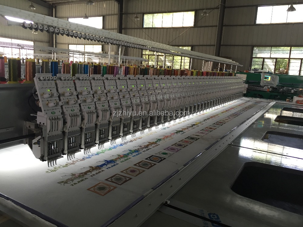 Flat embroidery machine 4color 39heads