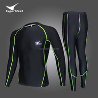 custom blank long sleeve mma compression rashguard running wear Training & Jogging Wear