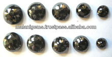 Genuine Black Diamond Round Rose Faceted Cut Loose Gemstones