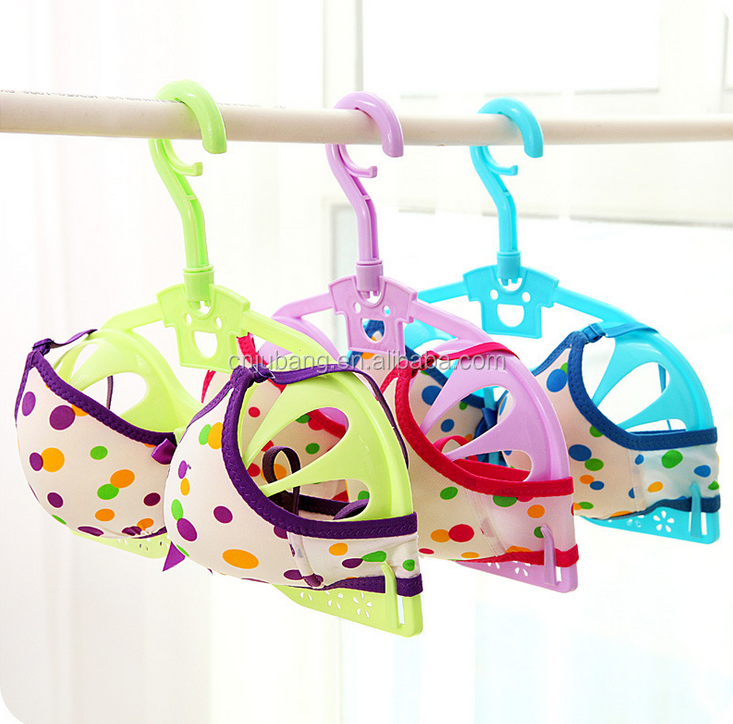 Creative plastic clothes bra hanger / women bra clothes hanger / Bra Holder Protector Storage Display Hanger