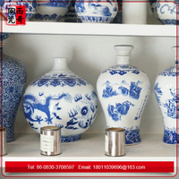 Many kinds of Chinese Blue and White Ceramic Liquor Jar