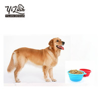 Collapsible Silicone rubber dog bowl,folding silicone pet bowl