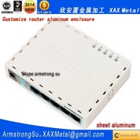 XAX402Alu OEM ODM customized laser cut bend weld sheet aluminum dd wrt wireless Router enclosure