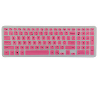 Fatory Price Laptop Silicone Keyboard Cover for Dell i5558(Pink)