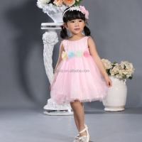 kids dress decoration flowers cinderella flower girl dresses red and white wedding dresses