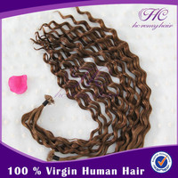 Zero Pollution And Lower Wholesale Cost Grade Aaa Blue V Tip Virgin Remy Weave Hair