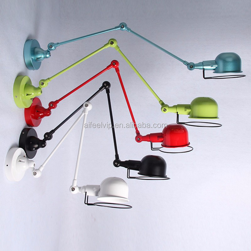 New design modern industrial indoor swing arm reading led lighting wall lamp