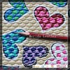 MRD2677 stone emboss colorful heart-shaped pattern pvc faux leather for pencil case