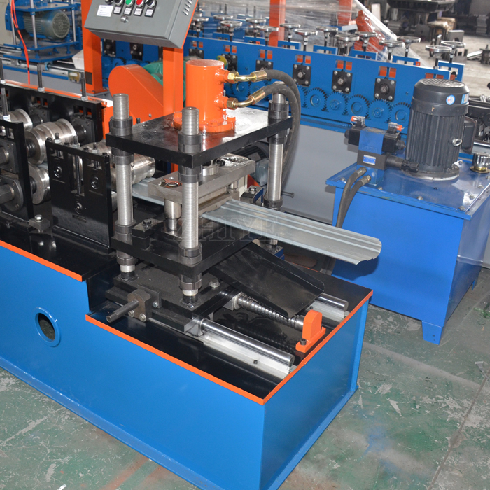 Perforated Corrugated Galvanized Steel Metal Fence Panel Sheet Roll Forming Machine