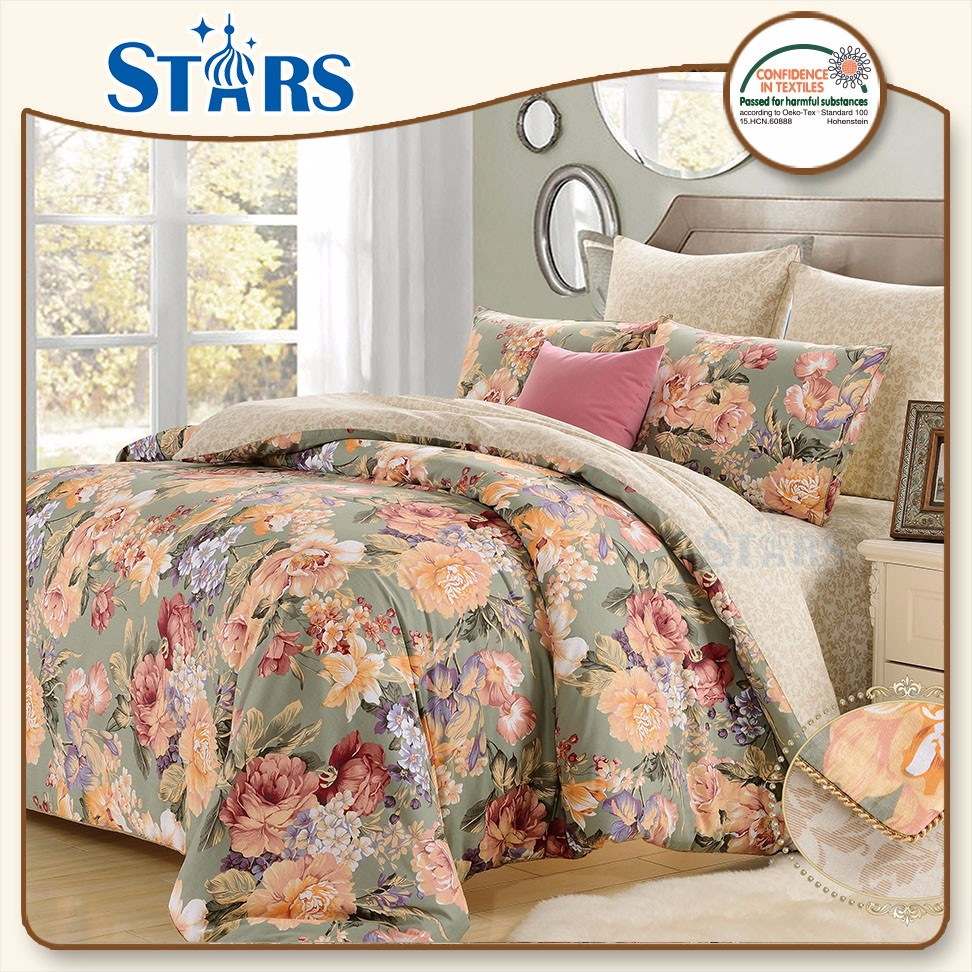 GS-SACOTTON-02 home 100 cotton microfiber european bedding set