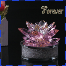 Shining Crystal Flower Crystal Lotus For Home Decoration or Crystal Gift