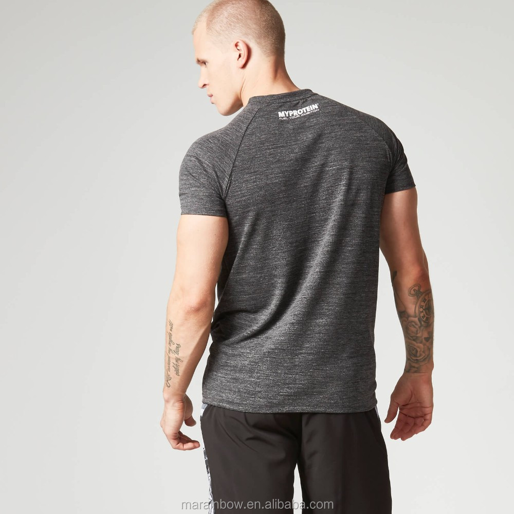 Men's Performance Short Sleeve Top Polyester Spandex Dry Fit T Shirt Raglan Sleeve Sports T Shirt Wholesale