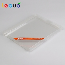2017 Supplier promotion custom printed transparent hard gift pvc packaging box for leather case