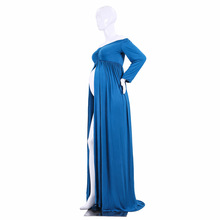 Sweetheart Fitted Maternity Gown Split Front Pregnancy Photography Dress