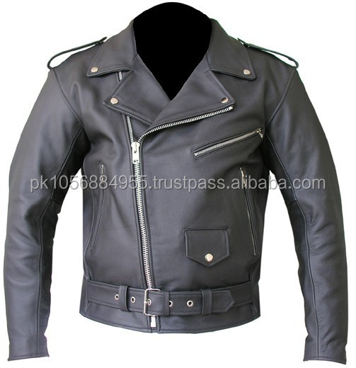 Chinese Garment Manufacturer Black Short Leather Motorcycle Jackets Pakistan