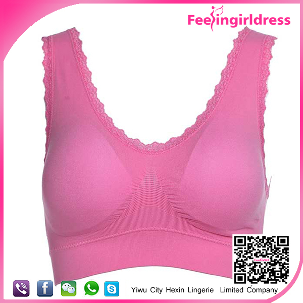 Pink Shape your Body Bra Sexy Ladies Cheap Wholesale Sportswear