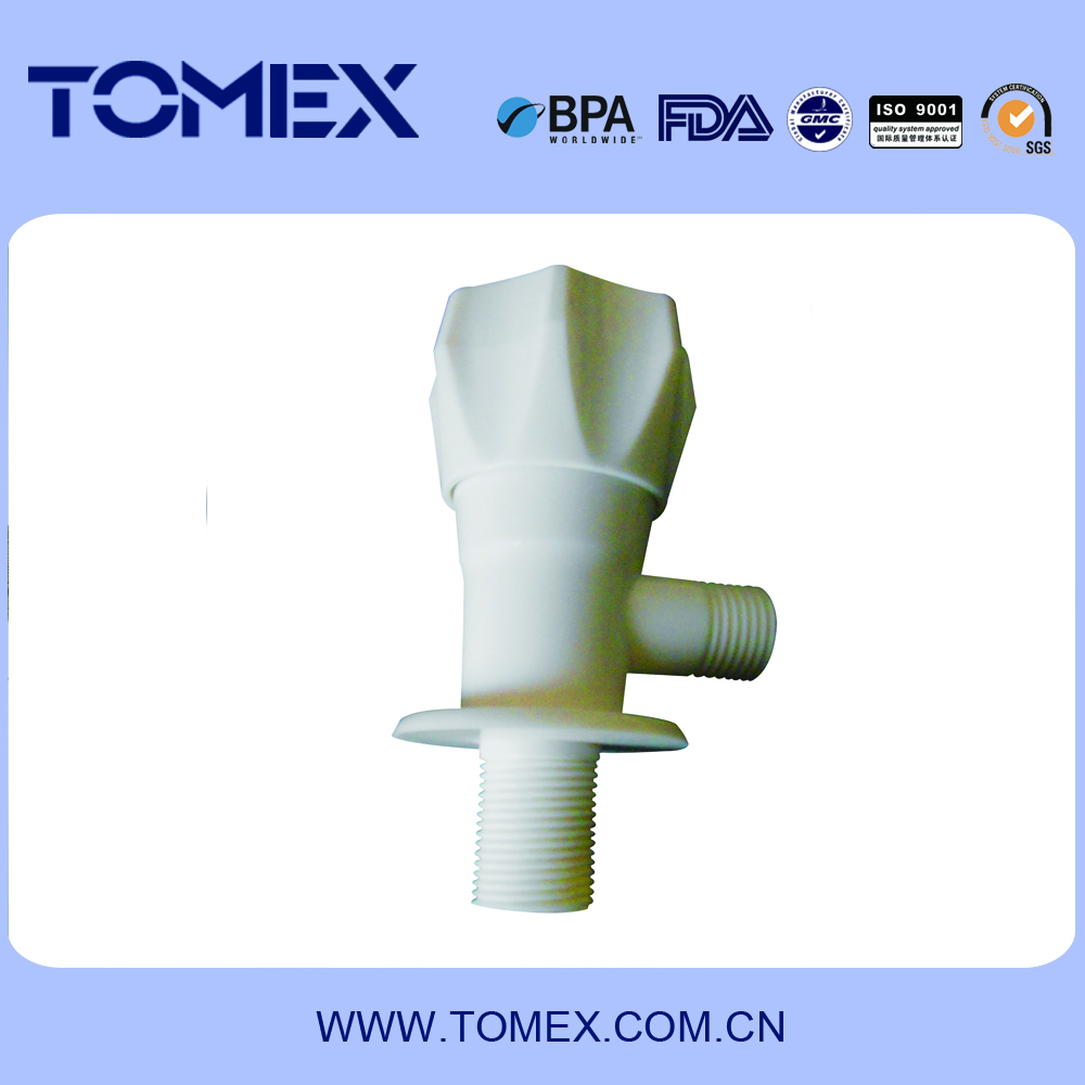 plastic outdoor garden angle valve cock with ceramic valve