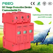 Oem factory china Three Phase SPD Three Phase PV Class C DC SPD Surge Diverter Power Surge Protector for solar energy system