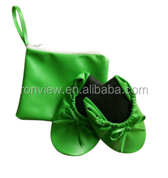 Lady Ballerina Slippers and Folding Shoes In Bag