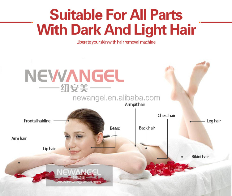 Newangel aesthetic 808 diode laser hair removal with Germany bars