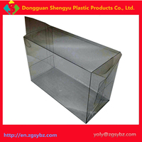 Square shape clear PP PVC PET plastic packaging boxes with hook