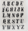 new creative alphabet clear stamp