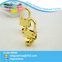 For handbag fancy colored gold key hook ring