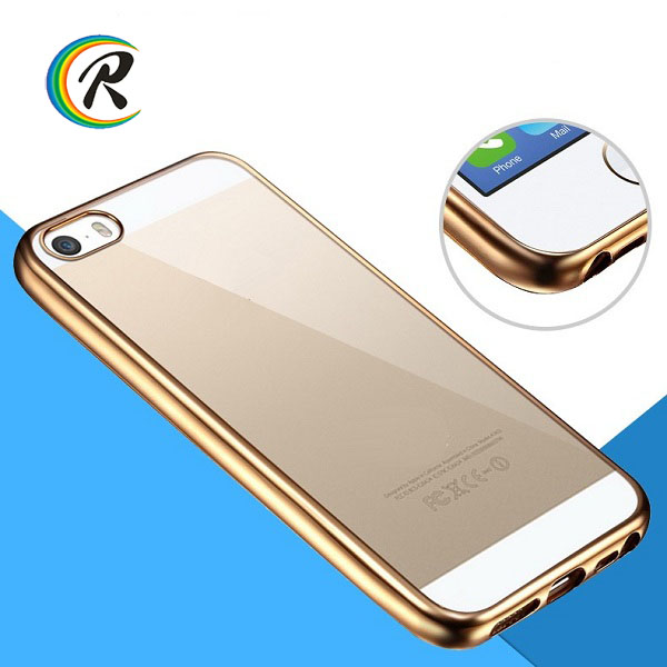 bulk buy from china for iphone 5s case for iPhone5s transparent phone case plating bumper