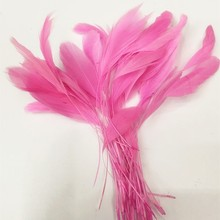 Burnt pink stripped coque feather,millinery feathers,feather decoration in size 6-8''