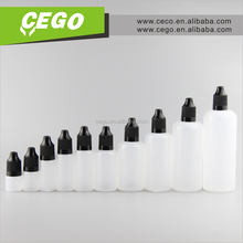 Empty 3ml 5ml 10ml plastic PE dropper bottle 15ml 20ml 30ml PE dropper bottle 50ml 60ml 100ml plastic e liquid bottle