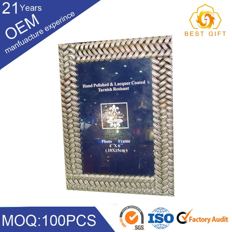 Aluminum elegant square 10x15 photo frame