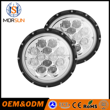 "2 Pcs H4 Round Headlight 7"" 60W 12pcs of Osram Combo Beam 5D LED Driving Light High Beam & Low Beam & Atmosphere Light"