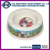 Plastic melamine dog bowl
