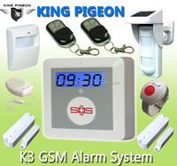 Ultra-low cost sms internet home security system Wireless GSM home Alarm System K3