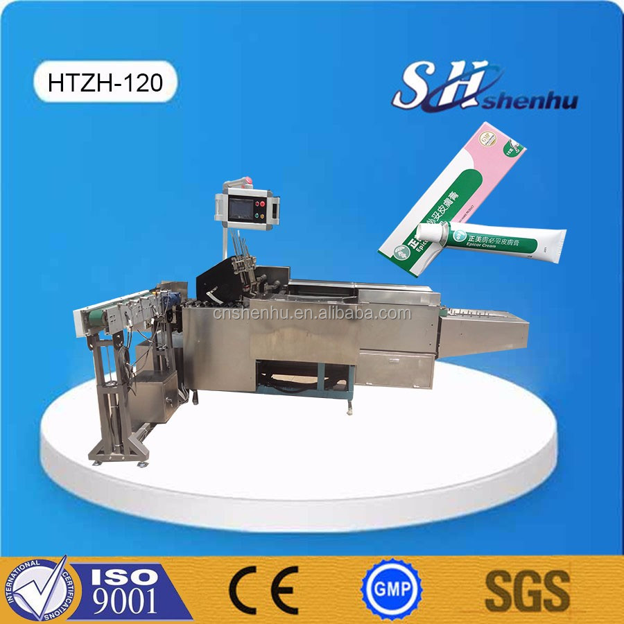 Automatic plastic tube cartoning machine/carton packing machine for cosmetics