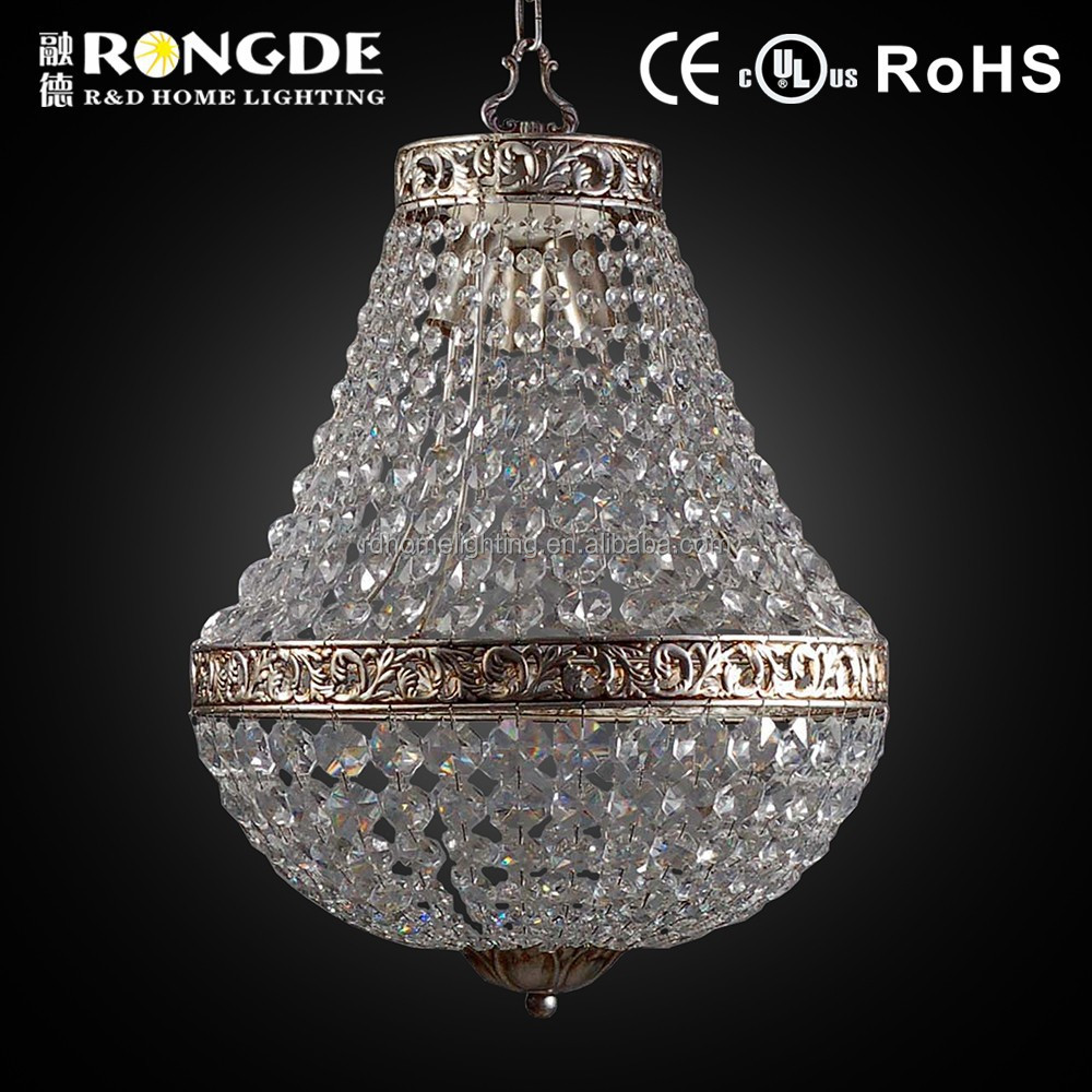 Antique Style beads and crystal lighting chandelier for hotel project lobby
