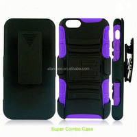 Tpu + PC belt clip heavy duty kickstand protector case cover for Blackberry Q10