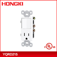 120V AC Decorator combination devices single-pole switch/receptacle ,ivory,white,almond