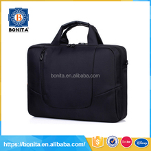 Personalized design black briefcase mens fancy soft luggage laptop bag