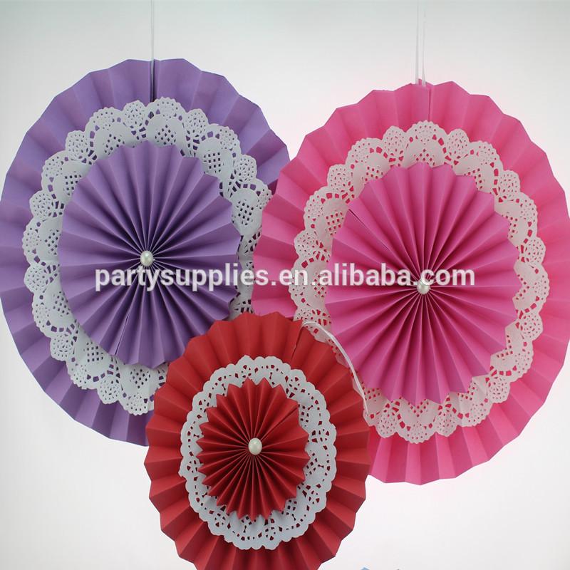 Abanicos de papel para la cortina de la boda decoraciones for Decoracion con abanicos